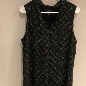 WORTHINGTON sleeveless black dress